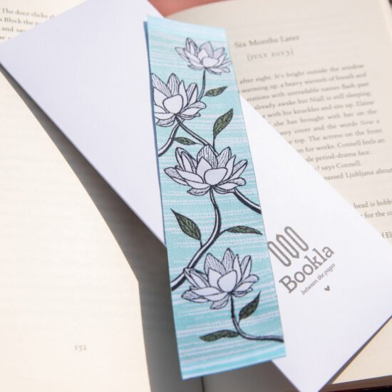 Bookla bookmark with the design Lotus Flower
