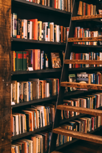 Bookcase in dry spot